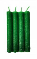 Anyagában színezett 13 cm-es gyertya - Zöld