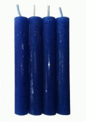 Anyagában színezett 13 cm-es gyertya - Kék