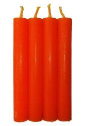 Anyagában színezett 13 cm-es gyertya - Narancs