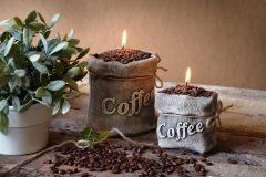 Kávés zsák gyertya
