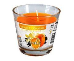Illatos gyertya üvegpohárban - Vanília-Narancs
