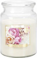 Nagy illatos gyertya fedeles üvegben - Különleges nap