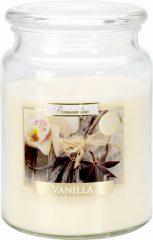 Nagy illatos gyertya fedeles üvegben - Vanília